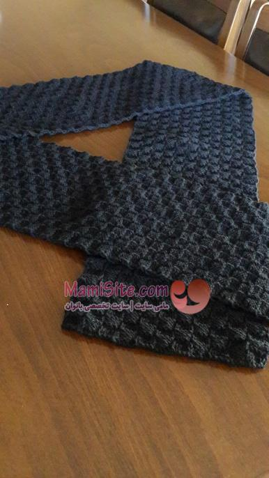 men scarf knit -مامی سایت
